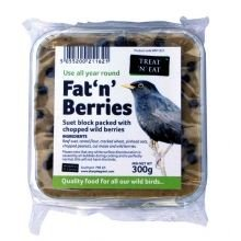 Treat 'n' Eat Fat 'n' Berries Suet Block 300g