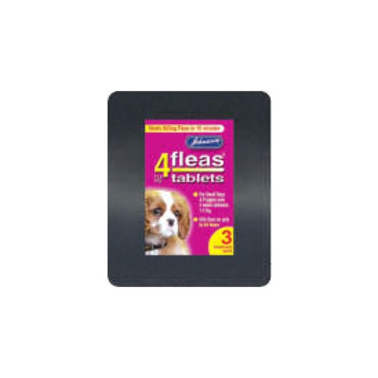 Johnsons 4Fleas Flea Tablets For Small Dogs 3 pack