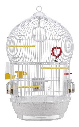 Ferplast Bali White Round Bird Cage & Accessories