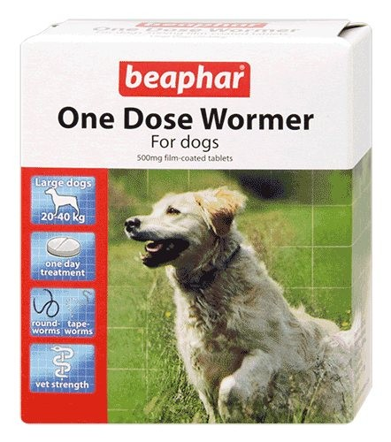 Beaphar One Dose Wormer For Dogs Up To 40Kg