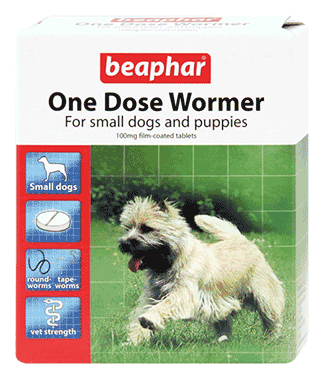 Beaphar One Dose Wormer For Dogs From 2 Weeks Old To 6Kg (3 Pack)