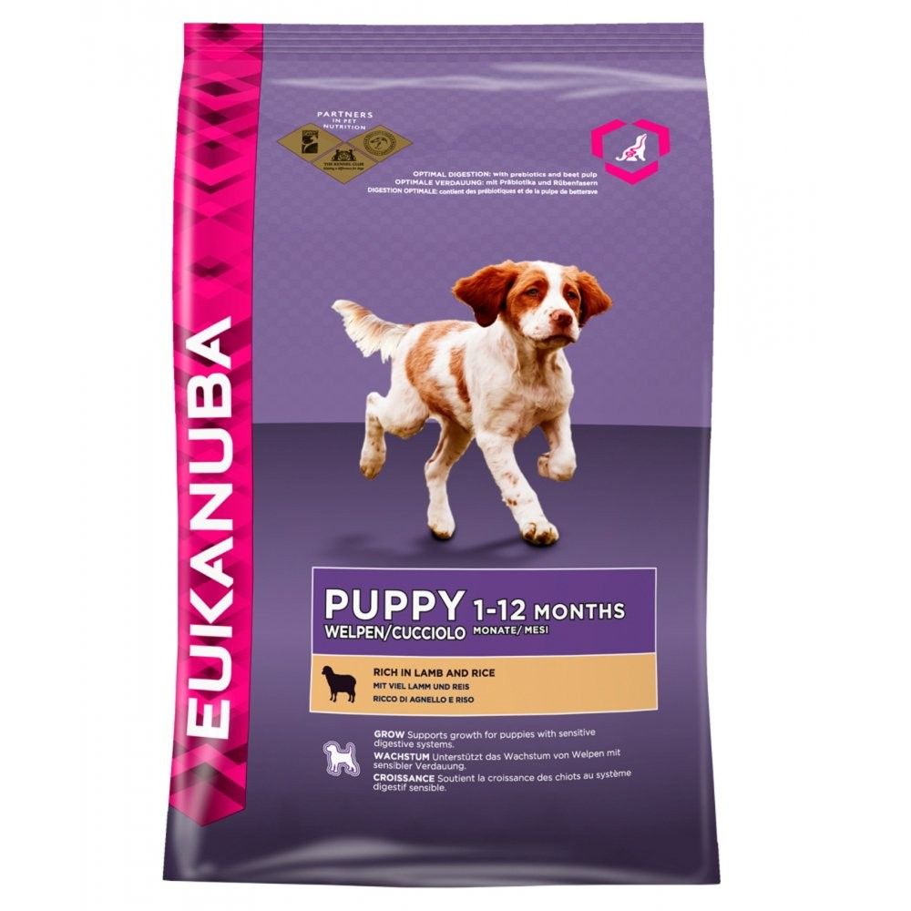 Eukanuba Puppy & Junior Lamb And Rice 12KG