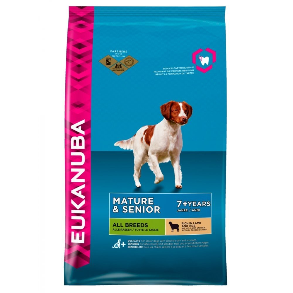 Eukanuba Mature & Senior Lamb and Rice All Breeds 12KG