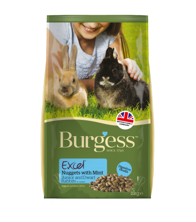 Burgess Rabbit Excel Dwarf & Junior Food 2Kg