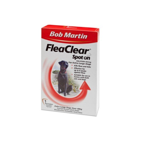 Bob Martin FleaClear Spot On-Extra Large Dogs 3pk