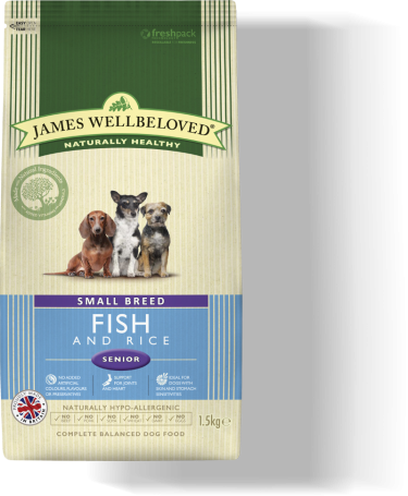 James Wellbeloved Senior Small Breed Fish & Rice 2kg