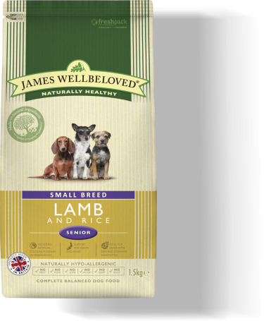 James Wellbeloved Senior Small Breed Lamb & Rice 2kg