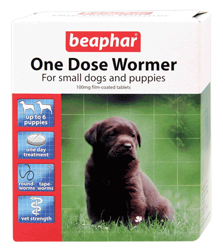 Beaphar One Dose Wormer For Dogs From 2 Weeks Old To 6kg ( 6 Pack )