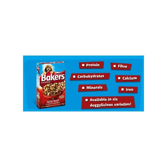 Bakers Complete Adult Dog Food 15Kg - Beef & Veg