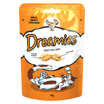 Dreamies Cat Treats with Chicken