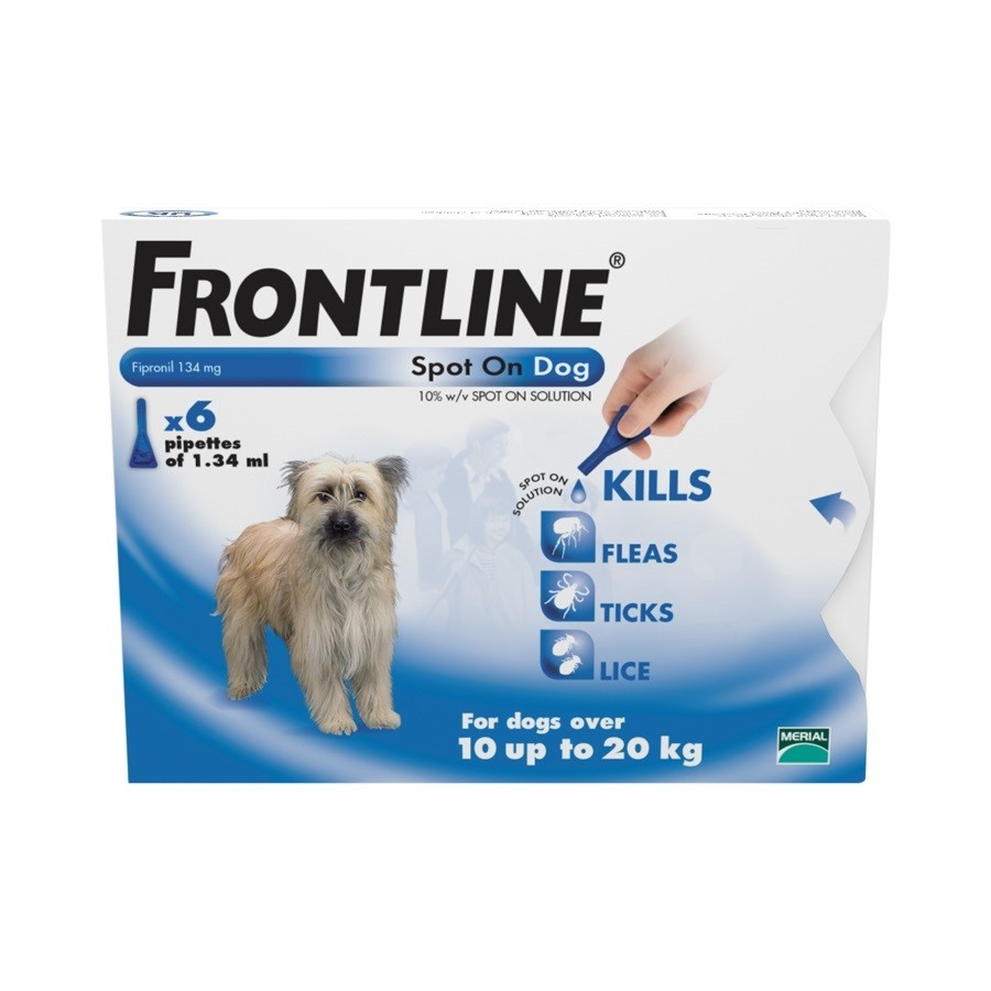 Frontline Spot On Medium Dog 6 pack Flea Treatment