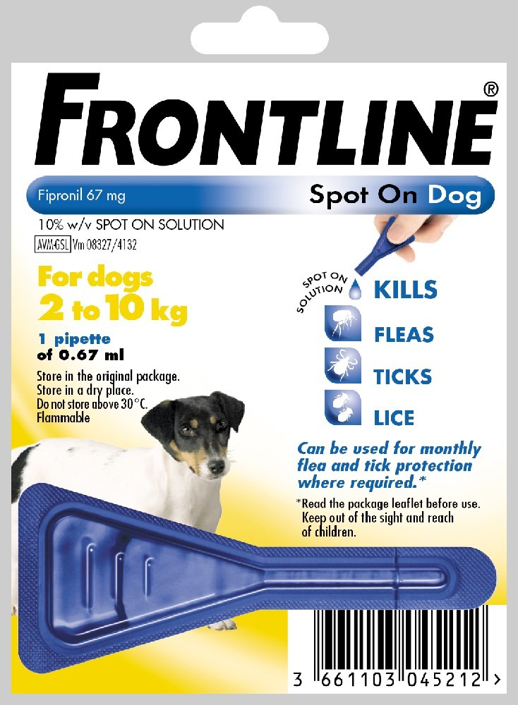 Frontline Spot On Small Dog Flea Treatment 1 pack