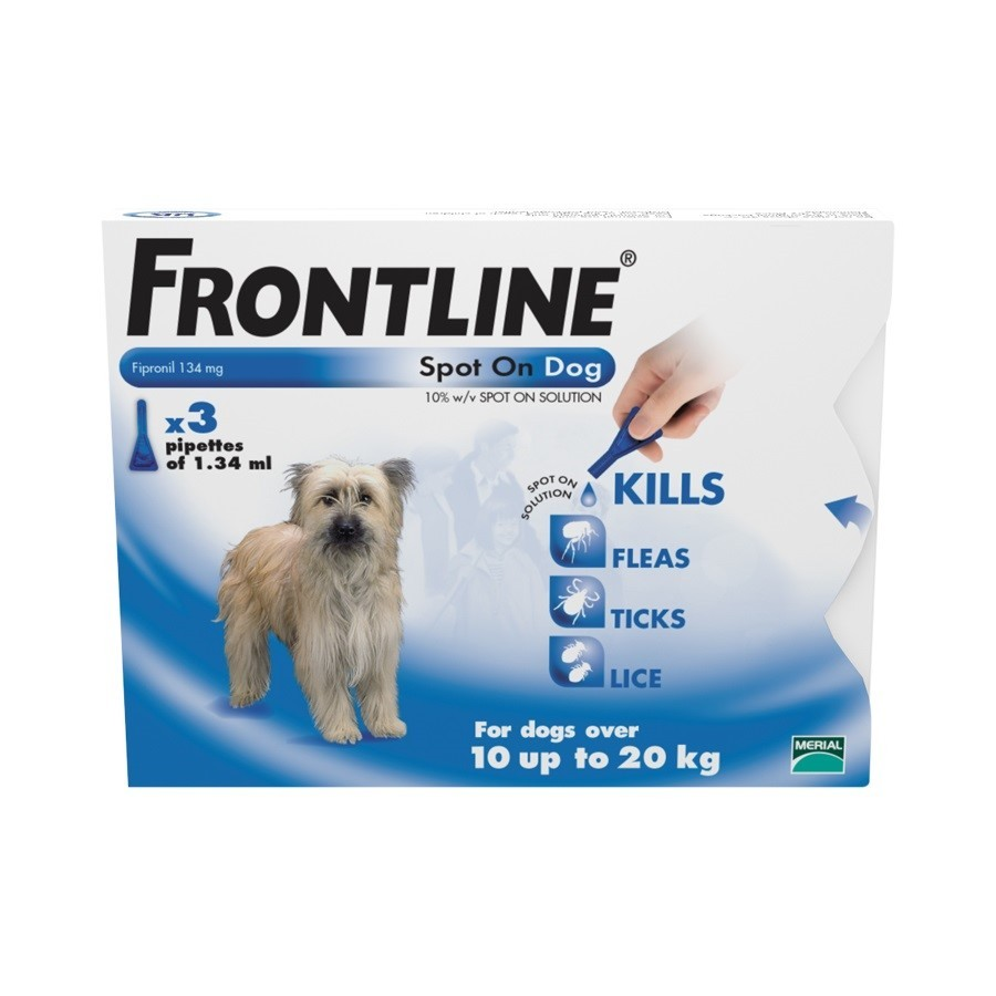 Frontline Spot On Medium Dog 3 pack Flea Treatment
