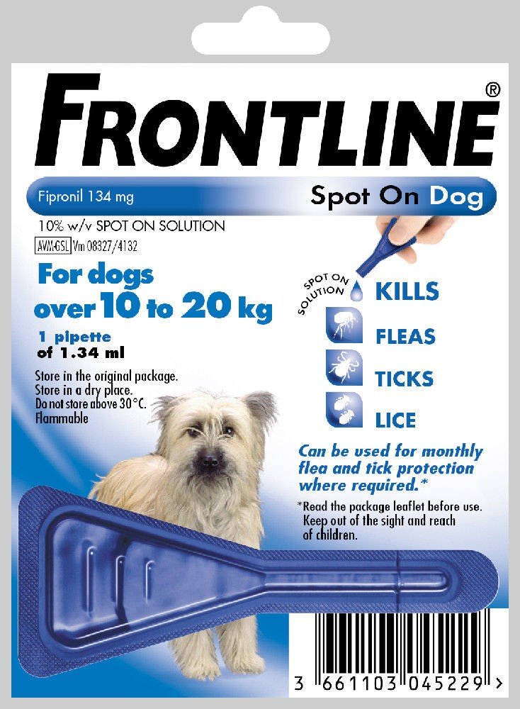 Frontline Spot On Medium Dog 1 pack Flea Treatment