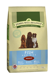 James Wellbeloved Adult Dog Food Fish & Rice 2Kg