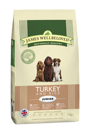 James Wellbeloved Junior Turkey & Rice 2Kg