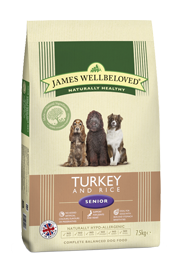 James Wellbeloved Senior Turkey & Rice 2Kg