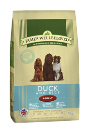 James Wellbeloved Adult Dog Food Duck & Rice 2Kg