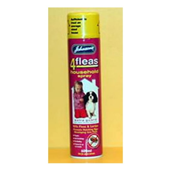 Johnsons 4 Fleas Household Spray-Extra Guard 600ml