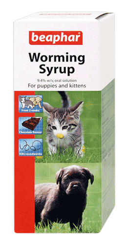 Beaphar Worming Syrup 45ml For Puppies and Kittens