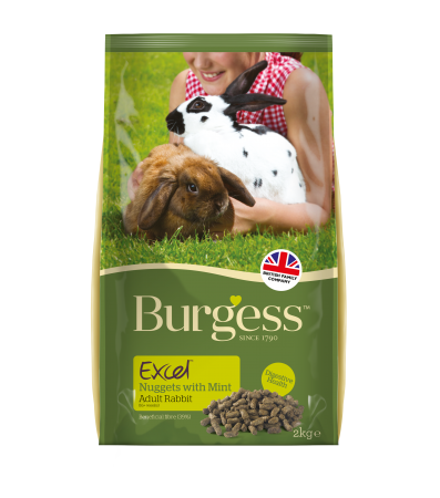 Burgess Rabbit Excel Nugget Rabbit Food With Mint 2kg