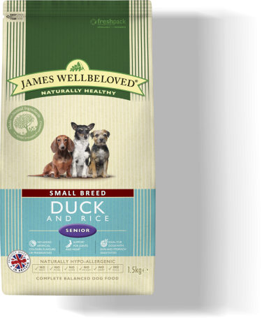 James Wellbeloved Senior Small Breed Duck & Rice 2kg