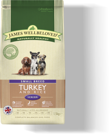 James Wellbeloved Senior Small Breed Turkey & Rice 2kg
