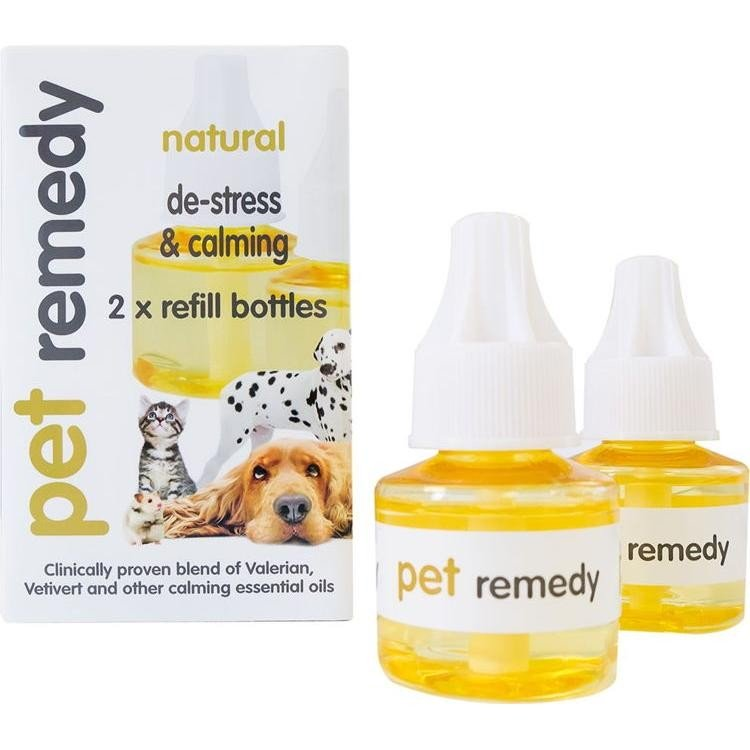 Pet Remedy Natural De-Stress & Calming 2 x Refill Bottles