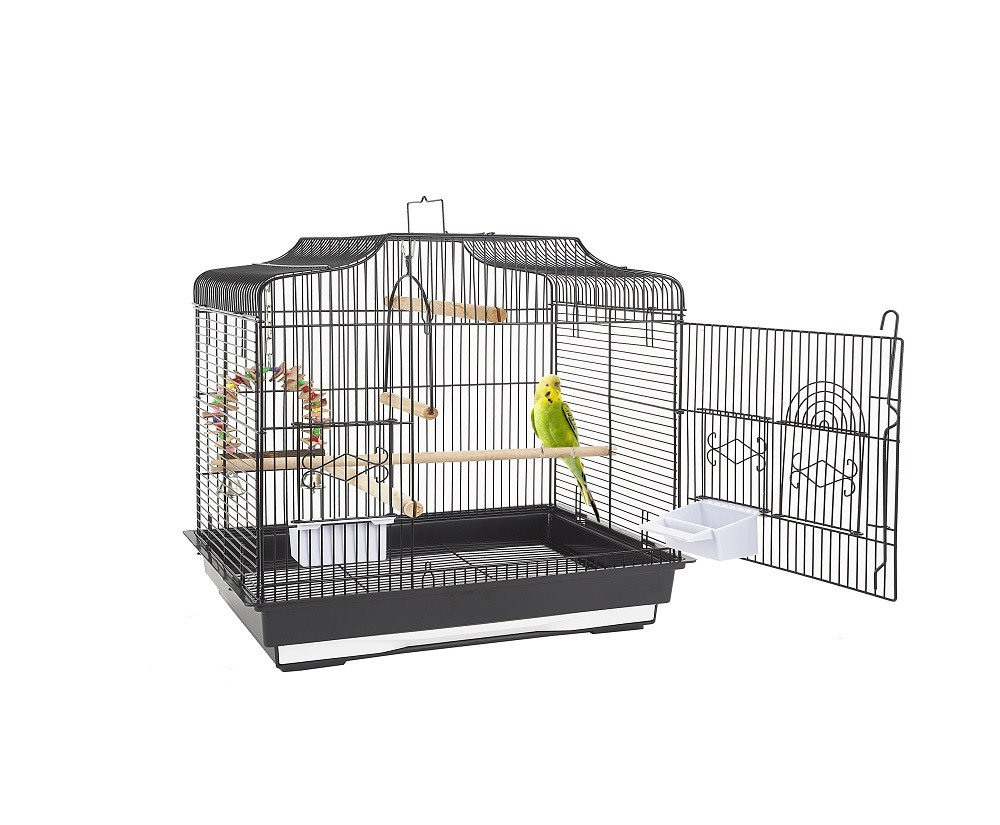 Black budgie cages